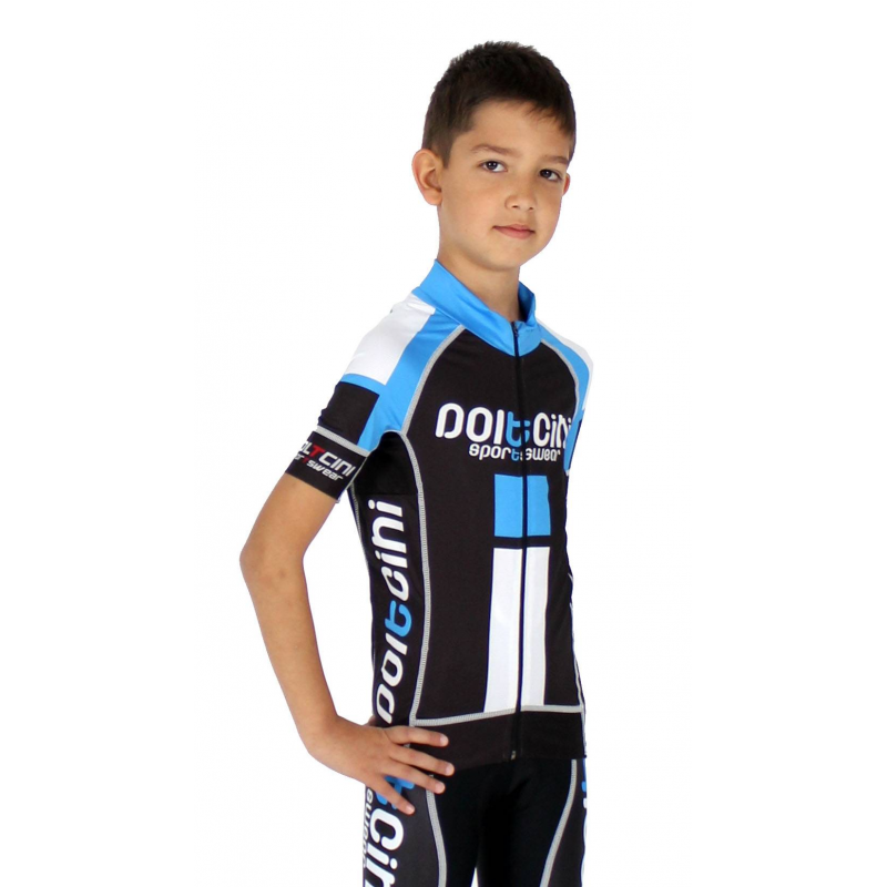 ... Cycling jersey short sleeves ELITE+ KIDS blue ... c22a415ce