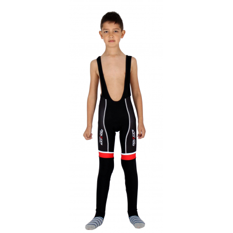 Cycling Kids Bibtight Winter pro Red - TOLEDO