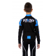 Cycling jersey long sleeves ELITE+ KIDS blue - NAPOLI