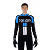 Cycling jersey long sleeves ELITE+ blue - NAPOLI