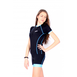Cycling Jersey Short Sleeves TANIA BLUE