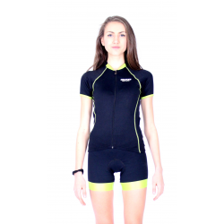 Cycling Jersey Short Sleeves TANIA GREEN