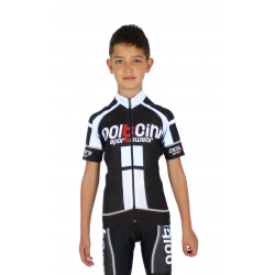 Cycling Jersey Short Sleeves PRO KIDS white - NAPOLI