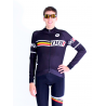 Cycling jersey long sleeves PRO black - SANTIAGO