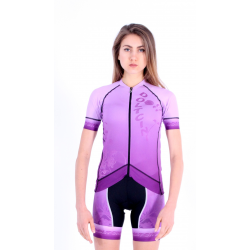 Cycling Jersey Short Sleeves PRO VIOLET