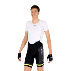 Cycling Pant Bib - PRO Fluo yellow - PROFFESSIONAL