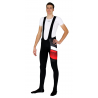 Cycling Bibtight winter with pad red - ORBA
