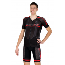 Cycling Jersey short sleeves -Performance Red - PROFESSIONAL