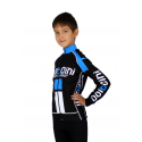Колоездачно детско джърси с дълъг ръкав, PRO KIDS blue - NAPOLI