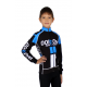 Cycling jersey long sleeves PRO KIDS blue - NAPOLI
