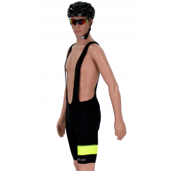 Cycling Pant Bib pro fluo yellow - ZAMORA