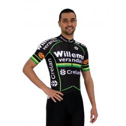 Cycling Jersey Short Sleeves Green PRO Willems Veranda