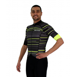 Cycling Jersey Short sleeves pro Fluo/Yellow - GANNON