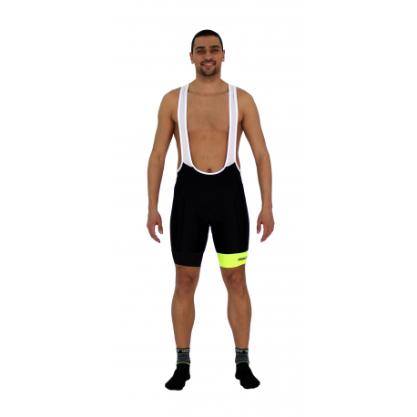 Cycling Pant Bib pro with pad Fluo/Yellow - GANNON
