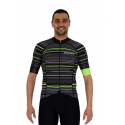Cycling Jersey Short sleeves pro Fluo/Green - GANNON