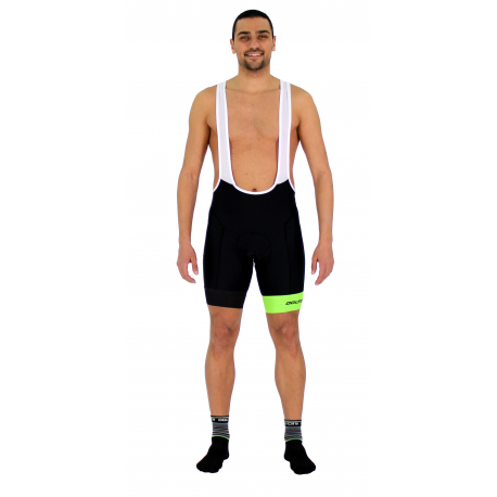 Cycling Pant Bib pro with pad Fluo/Green - GANNON