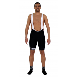 Cycling Pant Bib pro with pad Grey Stripes - GANNON