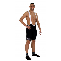 Cycling Pant Bib pro with pad Grey Stripes - GANNON