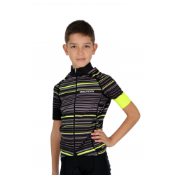 Cycling Jersey Short Sleeves PRO FLUO GREEN - GANNON KIDS
