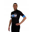 Cycling Jersey Short sleeves pro Blue - VISTA