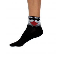 Socks Short Summer VISTA black/red