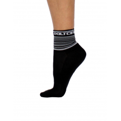 Socks Short Summer GANNON black/white