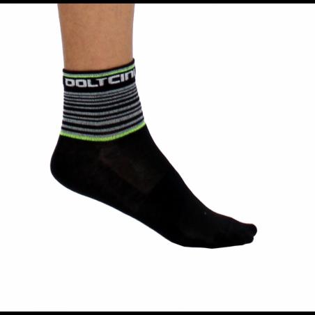 Socks Short Summer GANNON black/fluo yellow