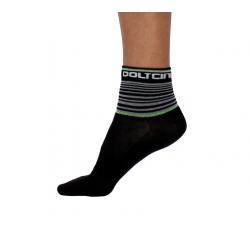 Socks Short Summer GANNON black/fluo green