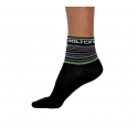 Socks Short Summer GANNON black/fluo green