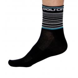 Socks Short Summer GANNON black/turquoise