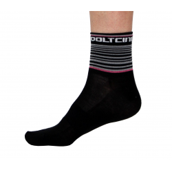 Socks Short Summer GANNON black/pink