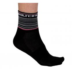 Чорапи ниски летни, GANNON black/pink