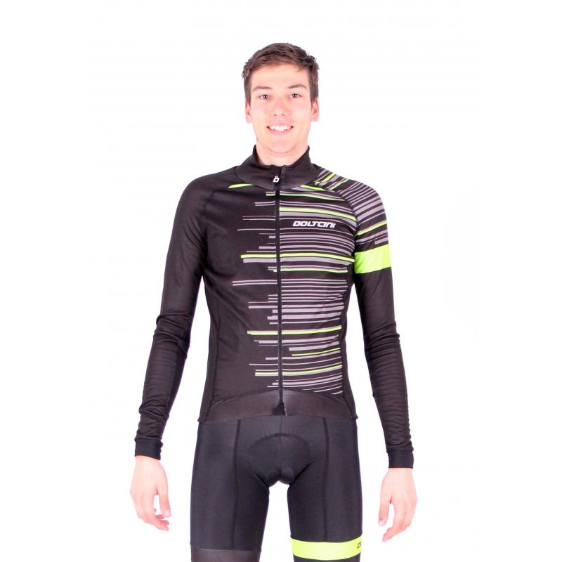 Cycling Jacket Winter PRO FLUO GREEN - GANNON