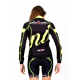 Cycling Jersey Long Sleeves pro fluo - BIANCA