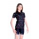Cycling jersey short sleeves Classic - DOTS Black