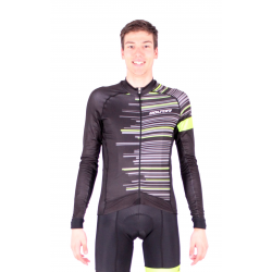 Cycling Jersey Long Sleeves FLUO GREEN - GANNON