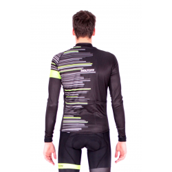 Cycling Jersey Long Sleeves Pro FLUO GREEN - GANNON