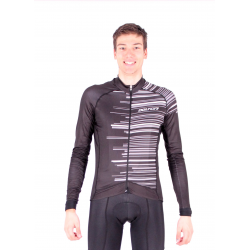 Cycling Jersey Long Sleeves BLACK/WHITE - GANNON