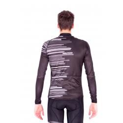 Колоездачно джърси с дълъг ръкав Pro BLACK/WHITE - GANNON