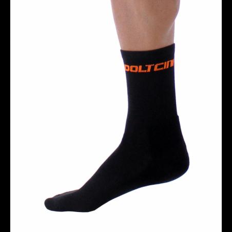 Чорапи високи зимни GANNON black-fluo orange