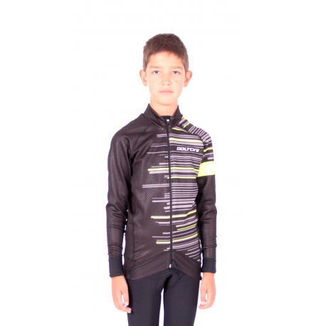 Cycling Kids Jacket classic Fluo Green - Gannon