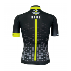 Cyclisme à manches courtes jersey pro Fluo/Yellow - CUBO
