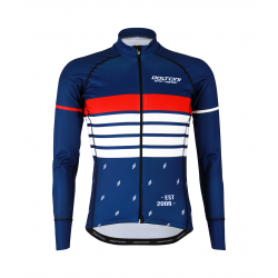 Cycling Jersey Long Sleeves PRO MARINE BLUE - ROULEUR