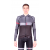 Cycling Jersey Long Sleeves BLACK/RED - VINTAGE