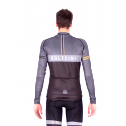 Cycling Jersey Long Sleeves BLACK/GREY - VINTAGE