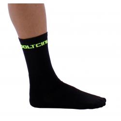 Socks High Summer Black-Fluo Yellow