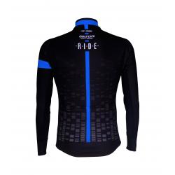 Cyclisme à Maillot manches longues BLACK/BLUE - CUBO