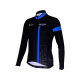 Cycling Jersey Long Sleeves BLACK/BLUE - CUBO