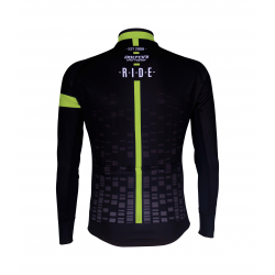Cycling Jersey Long Sleeves BLACK/FLUO YELLOW - CUBO