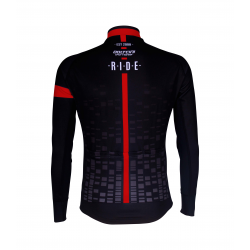 Cycling Jersey Long Sleeves BLACK/RED - CUBO